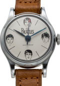 Music Memorabilia:Memorabilia, The Beatles: Beatles Wrist Watch by Bradley Time with OriginalPaperwork, Storage Pouch, and Gift Box (UK, 1964)....