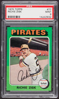 Baseball Cards:Singles (1970-Now), 1975 Topps Richie Zisk #77 PSA Mint 9....