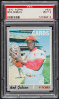 Baseball Cards:Singles (1970-Now), 1970 Topps Bob Gibson #530 PSA Mint 9....