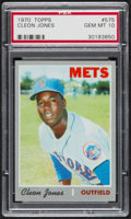 Baseball Cards:Singles (1970-Now), 1970 Topps Cleon Jones #575 PSA Gem Mint 10....