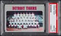 Baseball Cards:Singles (1970-Now), 1970 Topps Tigers Team #579 PSA Gem Mint 10 - Pop Two....