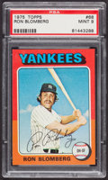 Baseball Cards:Singles (1970-Now), 1975 Topps Ron Blomberg #68 PSA Mint 9....