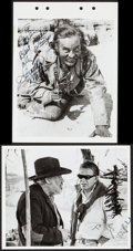 """Movie Posters:Western, The Wild Bunch (Warner Brothers, 1969). Autographed Photo (8"""" X 10"""") & Autographed Keybook Photo (8"""" X 11""""). Western.. ... (Total: 2 Items)"""