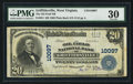 National Bank Notes:West Virginia, Griffithsville, WV - $20 1902 Plain Back Fr. 654 The Oil Field NBCh. # 10097. ...