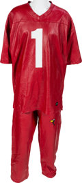 "Music Memorabilia:Costumes, Nelly - A Custom ""Arizona Cardinals"" Ensemble, Circa 2000s.... (Total: 2 Items)"