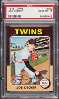 Baseball Cards:Singles (1970-Now), 1975 Topps Joe Decker #102 PSA Gem Mint 10....