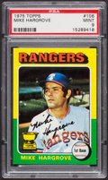 Baseball Cards:Singles (1970-Now), 1975 Topps Mike Hargrove #106 PSA Mint 9....