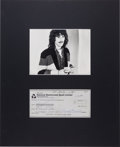 Music Memorabilia:Autographs and Signed Items, Beatles - George Harrison Signed Bank Check Order Form in Matted Display (London, July 25, 1974). ...