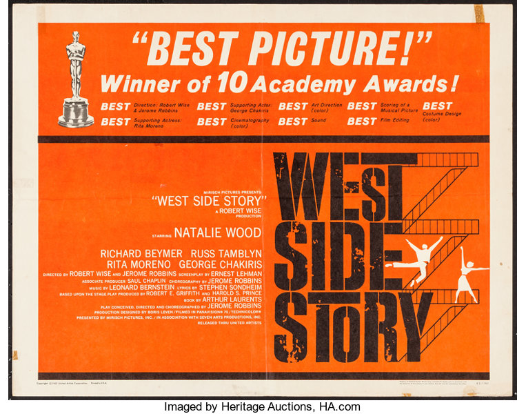 West Side Story Academy Awards poster
