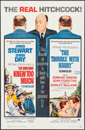"""Movie Posters:Hitchcock, The Man Who Knew Too Much/Trouble With Harry (Paramount, R-1963).One Sheet (27"""" X 41""""). Hitchcock.. ..."""