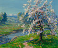 Fine Art - Painting, European:Antique  (Pre 1900), James Inglis (British, 1835-1904). Springtime Blossoms. Oilon canvas. 25 x 30-1/4 inches (63.5 x 76.8 cm). Signed lower...