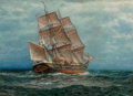 Fine Art - Painting, American:Modern  (1900 1949)  , James Gale Tyler (American, 1855-1931). Ship at Sail, 1913.Oil on canvas. 24 x 33 inches (61.0 x 83.8 cm). Signed and d...