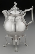 Silver Holloware, British:Holloware, A William Nowland George IV Irish Silver Hot Water Kettle on Stand,Dublin, circa 1815. Marks: (Hibernia), (crowned harp), ...