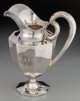 A Historic Peter Krider & Co. Silver Octagonal Pitcher, Philadelphia, Pennsylvania, circa 1890 Marks: (lion pass...
