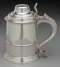 Silver Holloware, British, A William Comyns & Son Silver Covered Tankard, London, England, circa 1911-1912. Marks: (lion passant), (leopard'shead),...
