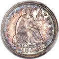 Proof Seated Half Dimes, 1854 H10C Arrows PR65 PCGS. CAC....