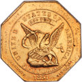 Territorial Gold, 1851 $50 RE Humbert Fifty Dollar, Reeded Edge, 880 Thous. MS61 NGC. K-5, Low R.5....