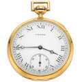 Timepieces:Pocket (post 1900), Crown Watch Co. 14k Gold Pocket Watch. ...