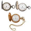 Timepieces:Pocket (post 1900), Three 18 Size Hunter Case Pocket Watches. ... (Total: 3 Items)