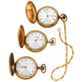 Timepieces:Pocket (post 1900), A Lot Of Three Elgin's 18 Size Hunter's Cases. ... (Total: 3 Items)