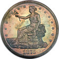 Trade Dollars, 1875 T$1 Type Two Reverse MS63 PCGS Secure....