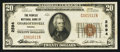 National Bank Notes:Virginia, Charlottesville, VA - $20 1929 Ty. 1 The Peoples NB Ch. # 2594. ...
