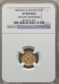 Mexico, Mexico: Republic gold Peso 1899 MO-M XF Details (Mount Removed)NGC,...