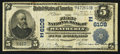 National Bank Notes:Pennsylvania, Weatherly, PA - $5 1902 Plain Back Fr. 598 The First NB Ch. # (E)6108. ...