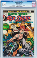 Bronze Age (1970-1979):Adventure, Marvel Feature #1 Red Sonja (Marvel, 1975) CGC NM 9.4 Off-white to white pages....