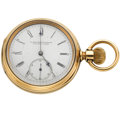 Timepieces:Pocket (post 1900), E. Howard & Co. 14k Gold Open Face Pocket Watch. ...