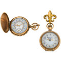 Timepieces:Pocket (post 1900), Two Waltham's Fancy Dials Pocket Watches. ... (Total: 2 Items)