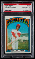 Baseball Cards:Singles (1970-Now), 1972 Topps Oscar Gamble #423 PSA Gem Mint 10....