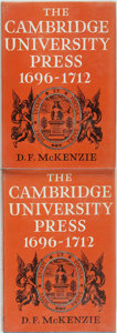 Books:Reference & Bibliography, [Bibliography]. D. F. McKenzie, editor. The Cambridge UniversityPress 1696-1712, Vols. I & II. Cambridge: Cambr... (Total:2 Items)