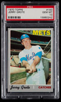 Baseball Cards:Singles (1970-Now), 1970 Topps Jerry Grote #183 PSA Gem Mint 10 - Pop Three....