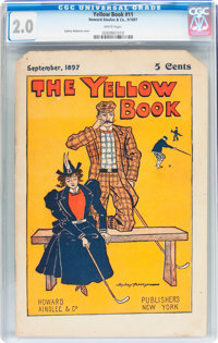 The Yellow Book #11 (Howard Ainslee & Co., 1897) CGC GD 2.0 White pages