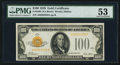 Small Size:Gold Certificates, Fr. 2405 $100 1928 Gold Certificate. PMG About Uncirculated 53.. ...