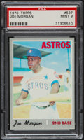 Baseball Cards:Singles (1970-Now), 1970 Topps Joe Morgan #537 PSA Mint 9....