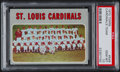 Baseball Cards:Singles (1970-Now), 1970 Topps Cardinals Team #549 PSA Gem Mint 10 - Pop Four....