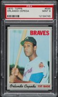 Baseball Cards:Singles (1970-Now), 1970 Topps Orlando Cepeda #555 PSA Mint 9....
