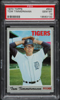 Baseball Cards:Singles (1970-Now), 1970 Topps Tom Timmermann #554 PSA Gem Mint 10 - Pop Three....