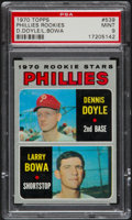 Baseball Cards:Singles (1970-Now), 1970 Topps Phillies Rookies #539 PSA Mint 9....