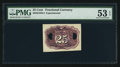 Fractional Currency:Second Issue, Milton 2E25R.2 25¢ Second Issue Experimental PMG About Uncirculated 53 EPQ.. ...