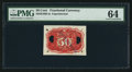 Fractional Currency:Second Issue, Milton 2E50R.5a 50¢ Second Issue Experimental Back PMG Choice Uncirculated 64.. ...
