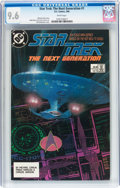 Modern Age (1980-Present):Science Fiction, Star Trek: The Next Generation #1 (DC, 1988) CGC NM+ 9.6 Whitepages....