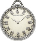 Timepieces:Pocket (post 1900), Paul Ditisheim Platinum & Diamond Pocket Watch, circa 1920. ...