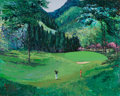 Fine Art - Painting, American:Contemporary   (1950 to present)  , Mark King (American, b. 1931). #15 Karasawa Country Club,1990. Acrylic on canvas. 24 x 30 inches (61.0 x 76.2 cm). Sign...