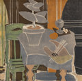 Fine Art - Work on Paper:Print, After Georges Braque (French, 1882-1963). Nature morte à lapalette, 1960. Lithograph in colors on Arches paper. 18-3/4 ...