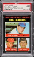 Baseball Cards:Singles (1970-Now), 1971 Topps NL ERA Leaders Seaver/Simpson/Walker #68 PSA Mint 9....