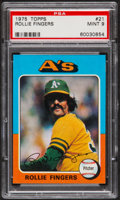 Baseball Cards:Singles (1970-Now), 1975 Topps Rollie Fingers #21 PSA Mint 9....