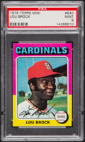 Baseball Cards:Singles (1970-Now), 1975 Topps Mini Lou Brock #540 PSA Mint 9....